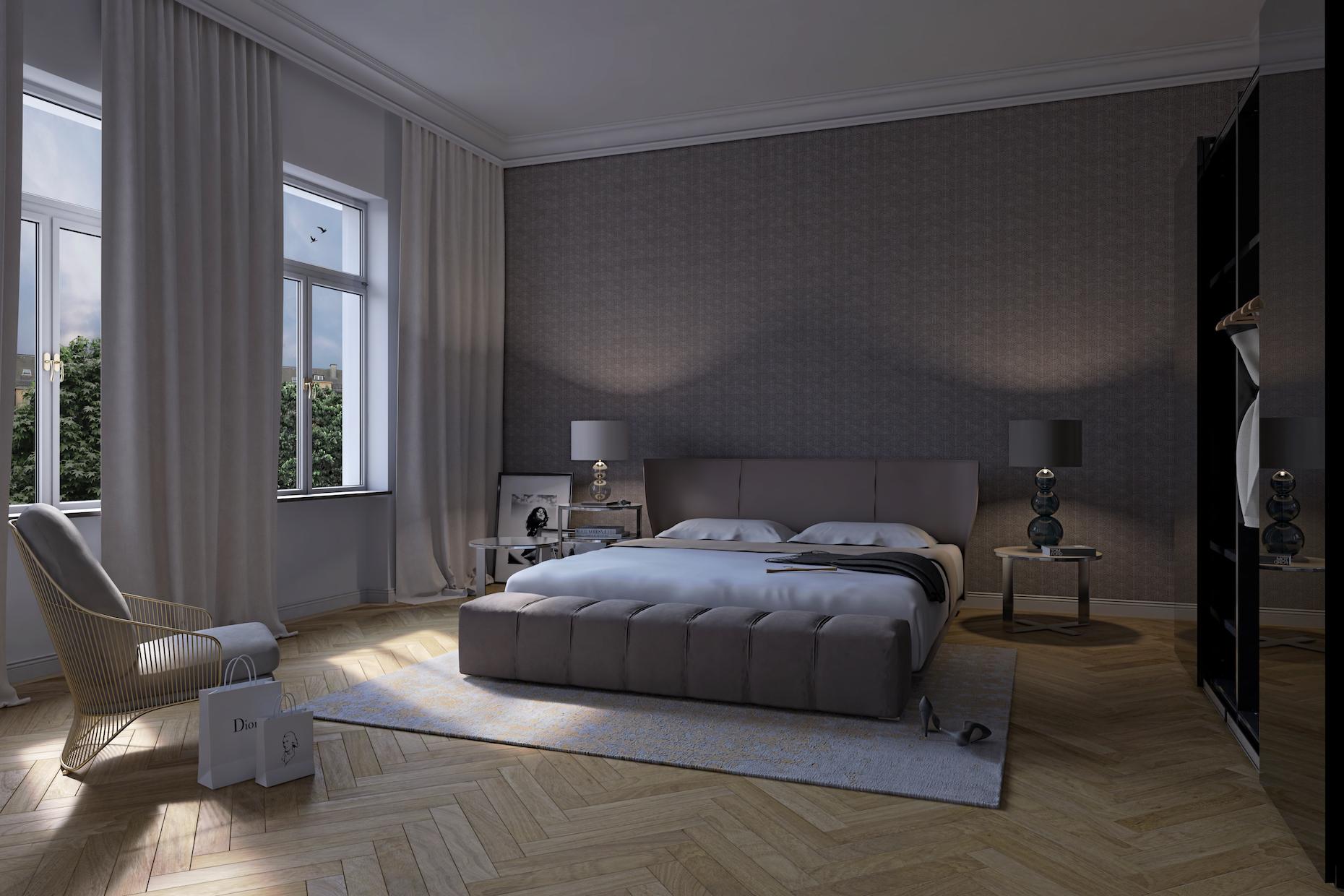 Sir Rumford_Immobilienprojekt Muenchen_Schlafzimmer